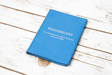 Load image into Gallery viewer, Wanderlust Genuine Leather Passport Cover - Allshop.store
