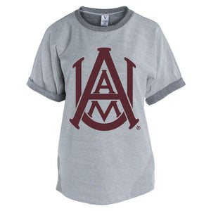 Official NCAA Alabama A&M Bulldogs PPAMU01 Men's Short Sleeve Tri-Blend Terry Tee
