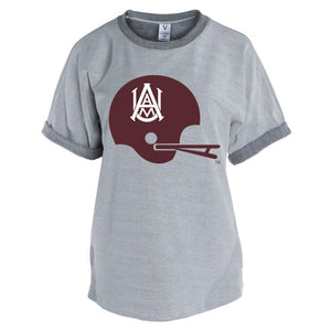 Official NCAA Alabama A&M Bulldogs PPAMU04 Men's Short Sleeve Tri-Blend Terry Tee