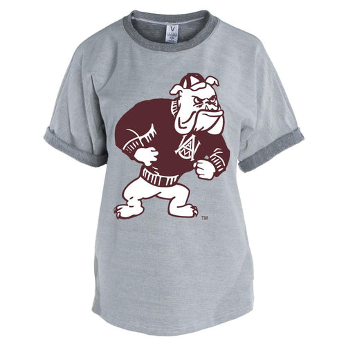 Official NCAA Alabama A&M Bulldogs PPAMU02 Men's Short Sleeve Tri-Blend Terry Tee