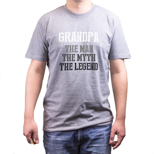 Grandpa Man Myth Legend Grey T-Shirts