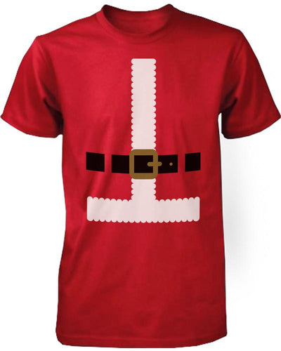 Funny Christmas Graphic Tees - Santa Outfit Red Cotton T-Shirt