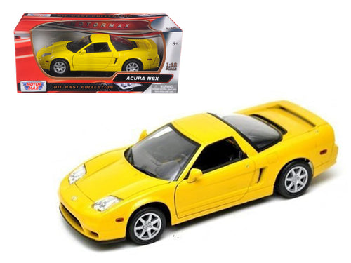 Acura NSX Yellow 1/18 Diecast Model Car by Motormax | Allshop.store