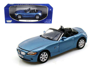 BMW Z4 Convertible Blue 1/18 Diecast Model Car by Motormax | Allshop.store