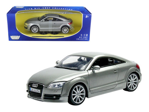 2007 Audi TT Coupe Grey 1/18 Diecast Car Model by Motormax