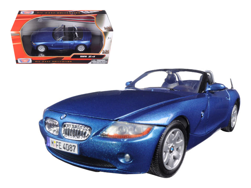 BMW Z4 Blue 1/24 Diecast Model Car by Motormax | Allshop.store