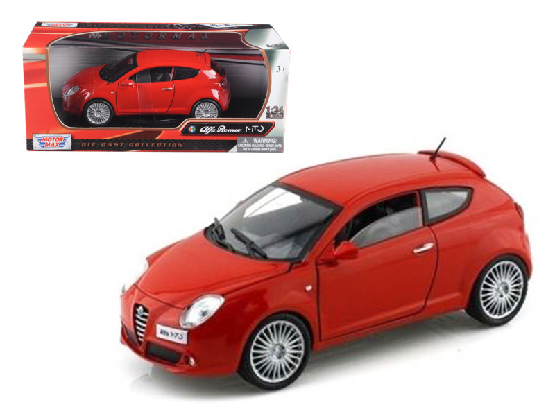 Alfa Romeo Mito Red 1/24 Diecast Car Model by Motormax | Allshop.store