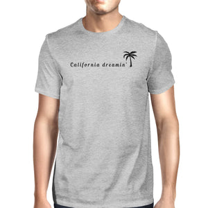 California Dreaming Mens Grey T-Shirt Lightweight Summer Shirt
