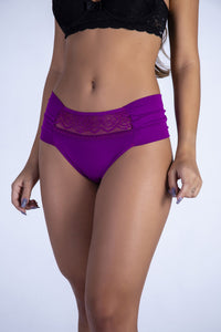 Purple Hiphugger Thong