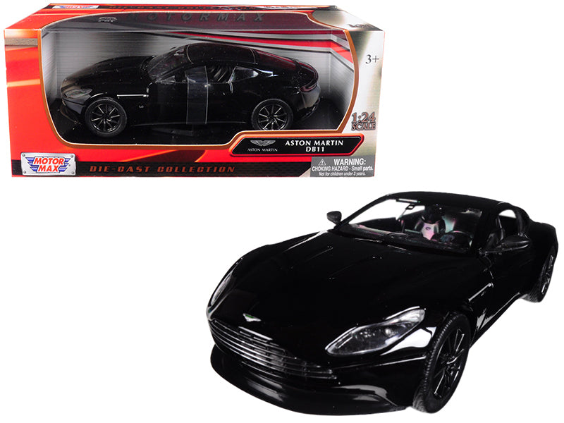Aston Martin DB11 Black 1/24 Diecast Model Car by Motormax | Allshop.store