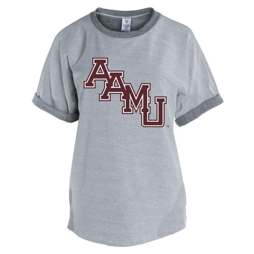 Official NCAA Alabama A&M Bulldogs PPAMU03 Men's Short Sleeve Tri-Blend Terry Tee