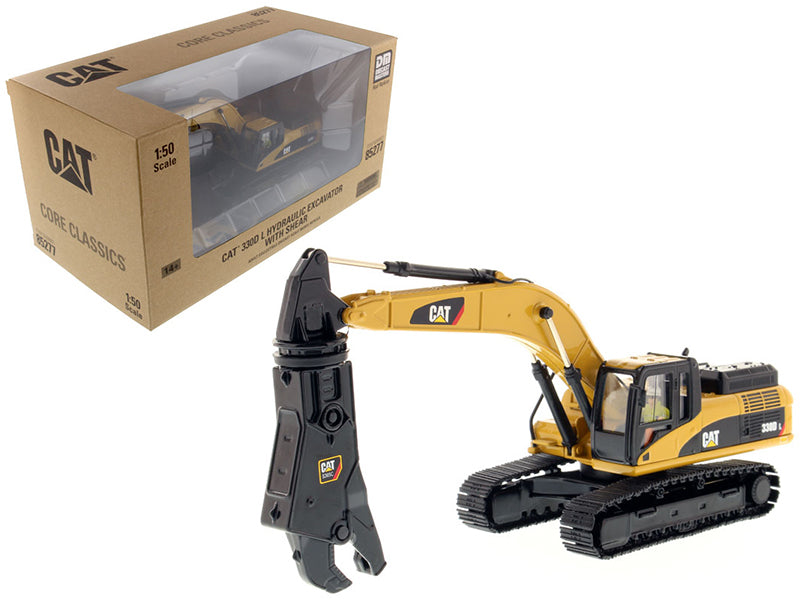 Caterpillar 330D L Hydraulic Excavator with Shear Core Classics Series with Operator 1/50 Diecast Model by Diecast Masters | Allshop.store