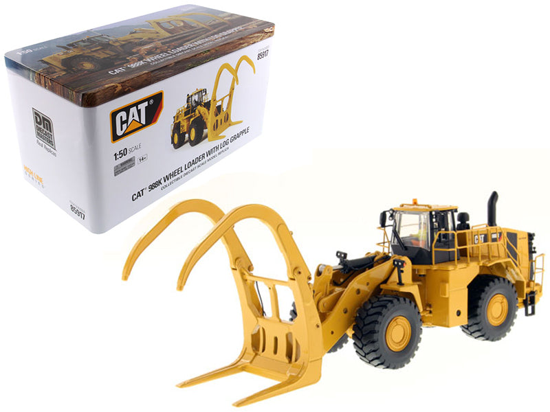 Caterpillar 988K Wheel Loader with Grapple with Operator 1/50 Diecast Model by Diecast Masters | Allshop.store
