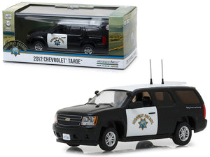 2012 Chevrolet Tahoe California Highway Patrol Black and White 1/43 Diecast Model Car by Greenlight | Allshop.store
