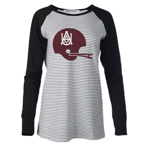 NCAA Alabama A&M Bulldogs PPAMU04 Women's Striped Thumbhole Long Sleeve