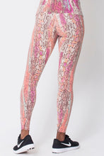 Load image into Gallery viewer, Pink Snake Print Leggings