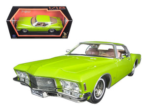 1971 Buick Riviera GS Green 1/18 Diecast Model Car by Road Signature | Allshop.store