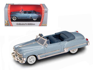 1949 Cadillac Coupe De Ville Metallic Blue 1/43 Diecast Car by Road Signature | Allshop.store
