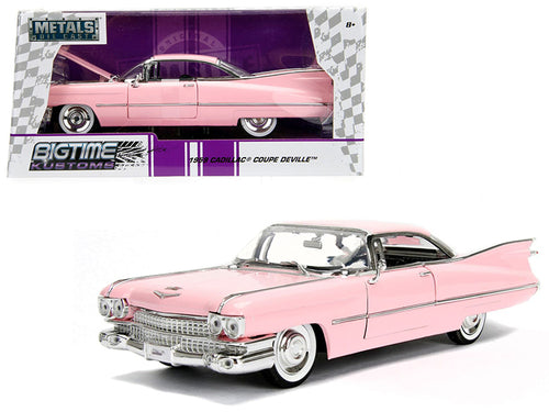 1959 Cadillac Coupe DeVille Pink 1/24 Diecast Model Car by Jada | Allshop.store
