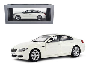 BMW 650i Gran Coupe 6 Series F06 Alpine White 1/18 Diecast Car Model by Paragon | Allshop.store