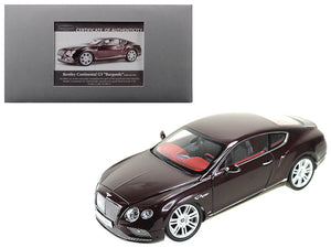 2016 Bentley Continental GT LHD Burgundy 1/18 Diecast Model Car by Paragon | Allshop.store