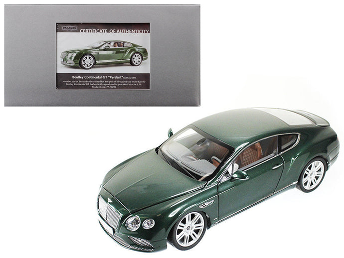 2016 Bentley Continental GT LHD Verdant Green 1/18 Diecast Model Car by Paragon | Allshop.store