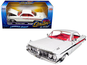 "1961 Chevrolet Impala White ""Lowrider Series"" Street Low 1/24 Diecast Model Car by Jada"