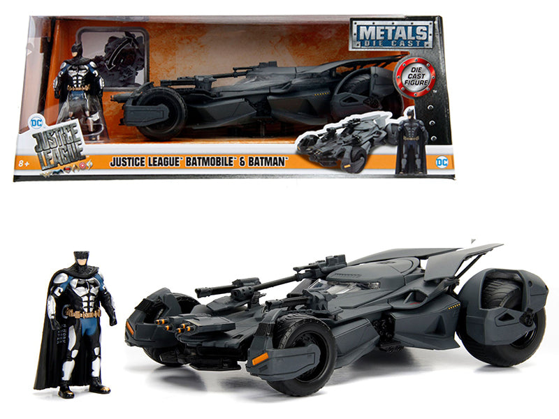 2017 Justice League Batmobile with diecast Batman Figure 1/24 Diecast Model Car by Jada | Allshop.store