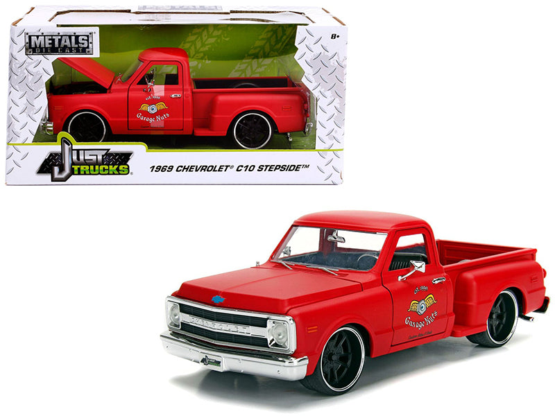 1969 Chevrolet C10 Stepside Pickup Truck Matt Red