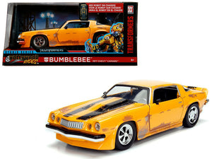 "1977 Chevrolet Camaro Concept Bumblebee Yellow from ""Transformers"" Movie ""Hollywood Rides"" Series 1/24 Diecast Model Car by Jada 