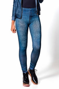 High Waisted Dark Jeans Leggings