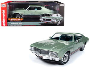 "1970 Buick Grand Sport GS 455 Hardtop ""MCACN"" (""Muscle Car and Corvette Nationals"") Seamist Green Limited Edition to 1,002 pieces Worldwide 1/18 Diecast Model Car by Autoworld 