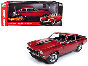 "1972 Chevrolet Vega Yenko Stinger ""MCACN"" (Muscle Car and Corvette Nationals) Man-O-War Red with Black Stripes Limited Edition to 1002 pieces Worldwide 1/18 Diecast Model Car by Autoworld 