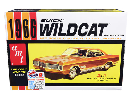 Skill 2 Model Kit 1966 Buick Wildcat Hardtop 3 in 1 Kit 1/25 Scale Model by AMT