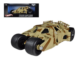 """The Dark Knight Rises"" Batmobile Tumbler Camouflage 1/18 Diecast Car Model by Hotwheels 