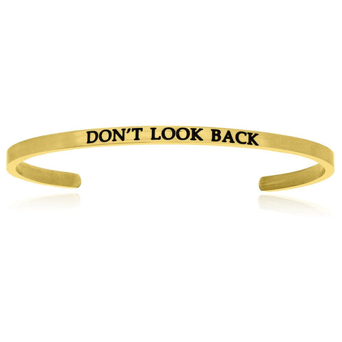 Yellow Stainless Steel Don't Look Back Cuff Bracelet - Allshop.store