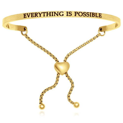 Yellow Stainless Steel Everything Is Possible Adjustable Bracelet - Allshop.store