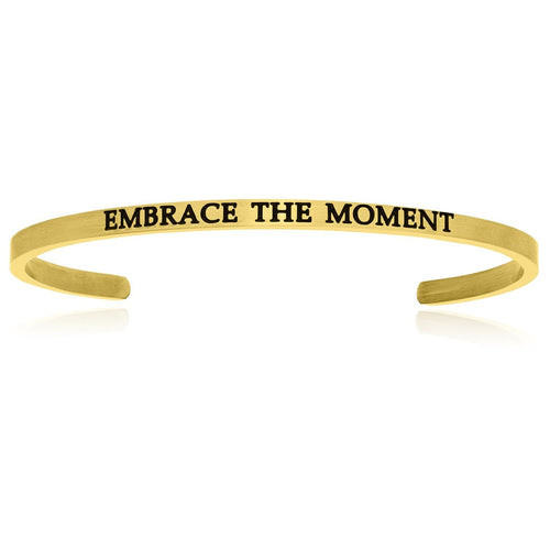 Yellow Stainless Steel Embrace The Moment Cuff Bracelet - Allshop.store