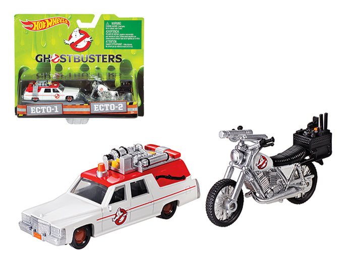 Ghostbusters 3 Movie Cadillac 1/64 & Bike 1/50 Scale Diecast Model by Hotwheels | Allshop.store