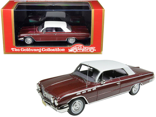 1962 Buick Electra 225 Burgundy Metallic with White Top Limited Edition to 210 pieces Worldwide 1/43 Model Car by Goldvarg Collection