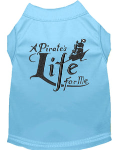 A Pirate's Life Embroidered Dog Shirt Baby Blue
