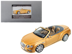 2016 Bentley Continental GT Convertible LHD Sunburst Gold 1/18 Diecast Model Car by Paragon | Allshop.store