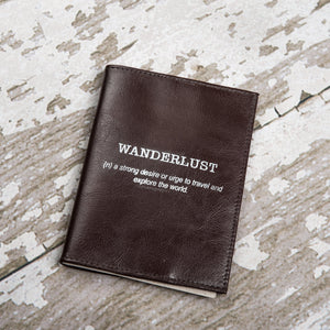Wanderlust Genuine Leather Passport Cover - Allshop.store