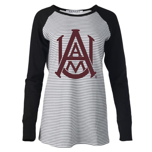 NCAA Alabama A&M Bulldogs PPAMU01 Women's Striped Thumbhole Long Sleeve