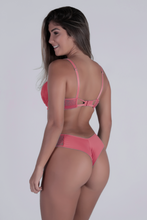 Load image into Gallery viewer, Dusty Pink Dream Push-up Strap Detail Bra and Thong