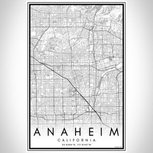 Anaheim - California Classic Map Print