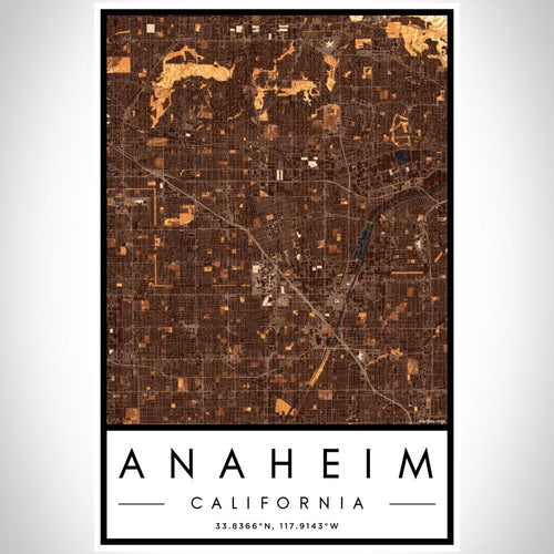 Anaheim - California Map Print in Ember