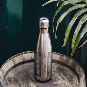 Anchorage - Alaska Map Insulated Bottle