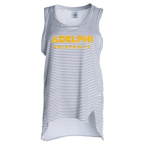 Official NCAA Adelphi University Panthers  - Women's Stretchy Striped Tank