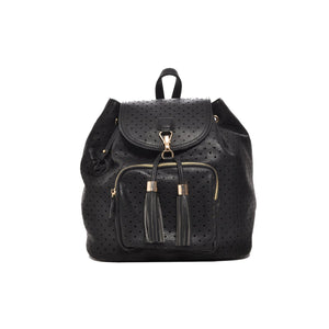 Mechaly Women's Jamie Black Vegan Leather Backpack | Allshop.store